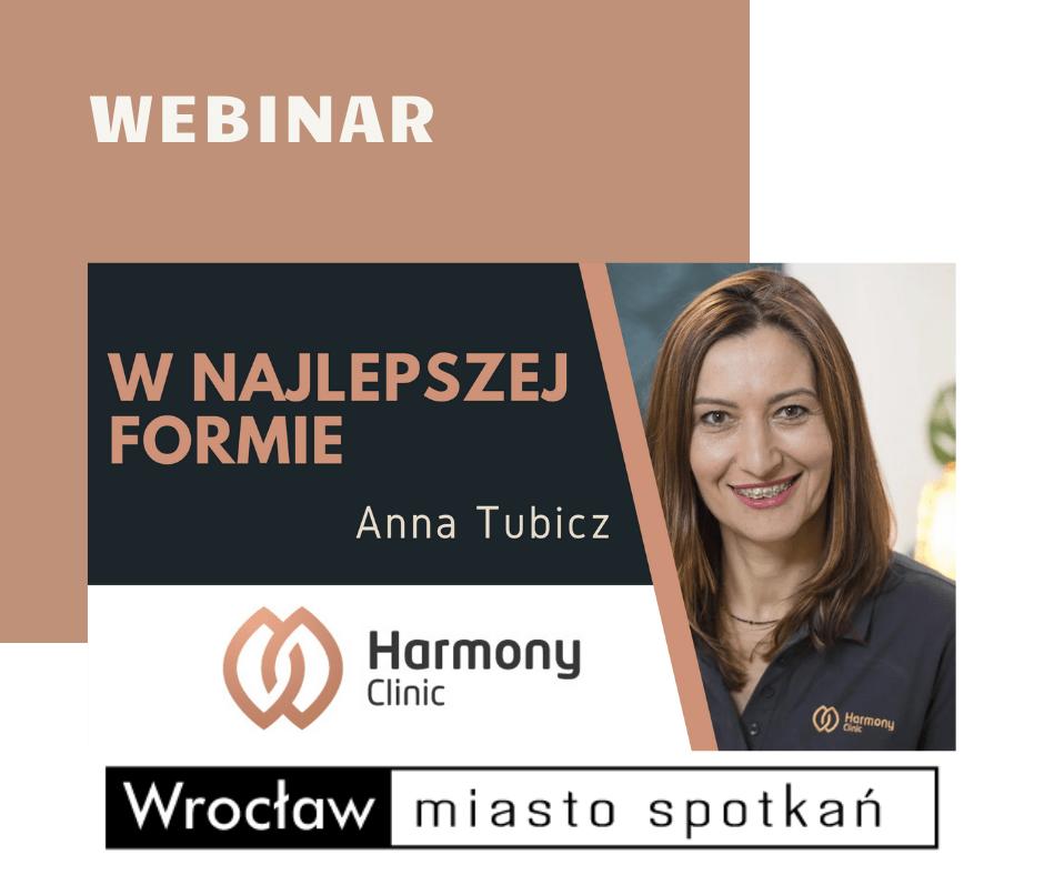 Klub Aktywnego Seniora | WEBINAR - W najlepszej formie | WROCŁAW | Harmony Clinic | Anna Tubicz